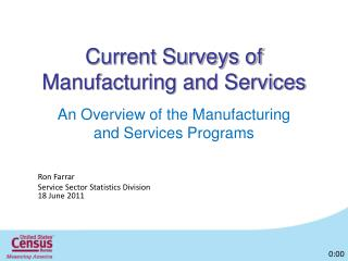 Current Surveys of Manufacturing and Services
