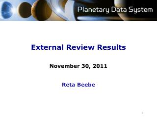 External Review Results