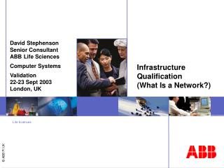 Infrastructure Qualification  (What Is a Network?)