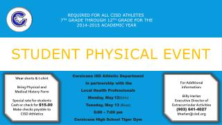 Student Physical Event