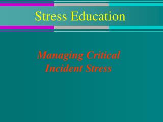 Stress Education