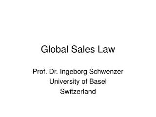 Global Sales Law