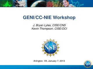 GENI/CC-NIE Workshop
