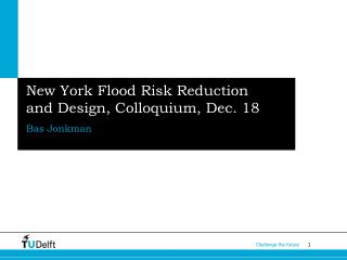 New York Flood Risk Reduction  and Design, Colloquium, Dec. 18