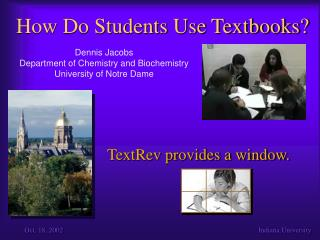 How Do Students Use Textbooks?