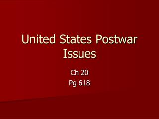 United States Postwar Issues