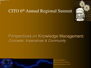 Perspectives on Knowledge Management:  Concepts, Imperatives & Community