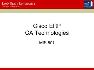 Cisco ERP CA Technologies