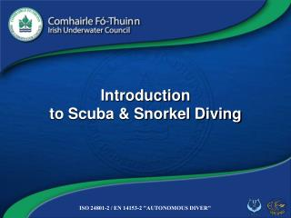 Introduction  to Scuba & Snorkel Diving
