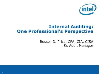 Internal Auditing: One Professional's Perspective