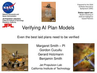 Verifying AI Plan Models Even the best laid plans need to be verified
