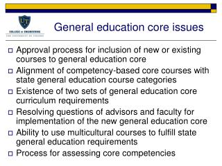General education core issues