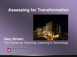 Assessing for Transformation