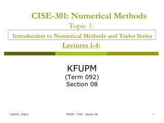 KFUPM (Term 092) Section 08
