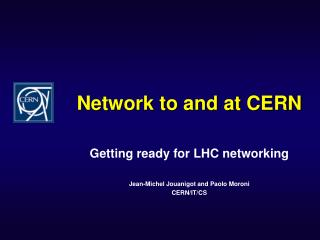 Network to and at CERN