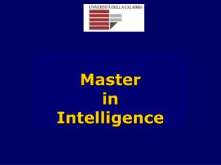 Master  in  Intelligence