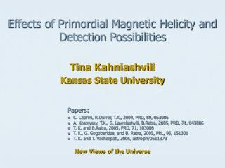 Effects of Primordial Magnetic Helicity and  Detection Possibilities