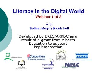 Literacy in the Digital World Webinar 1 of 2