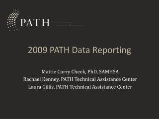 2009 PATH Data Reporting