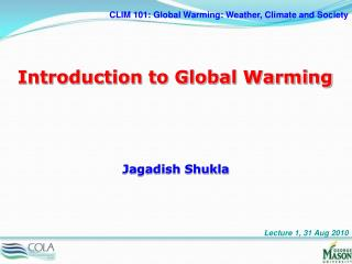 Introduction to Global Warming