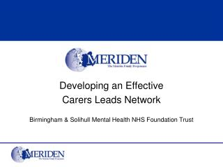 Developing an Effective Carers Leads Network