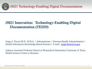 i5021 Technology-Enabling Digital Documentation