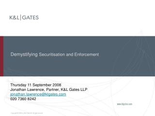 Demystifying  Securitisation and Enforcement