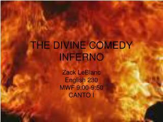 THE DIVINE COMEDY INFERNO