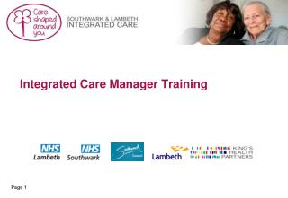 Integrated Care Manager Training