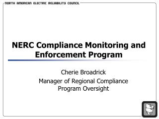 NERC Compliance Monitoring and Enforcement Program