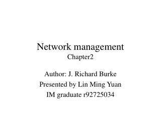 Network management Chapter2