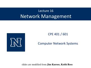 Lecture 16 Network Management