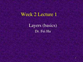 Week 2 Lecture 1
