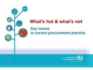Key issues  in current procurement practice