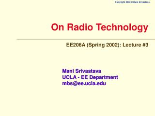 On Radio Technology