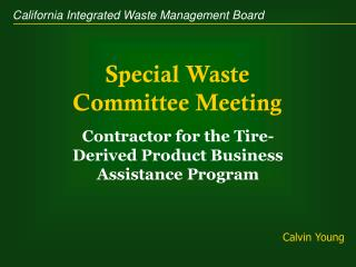Special Waste Committee Meeting