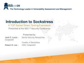 Introduction to Sockstress A TCP Socket Stress Testing Framework