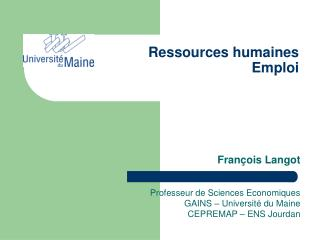 Ressources humaines Emploi