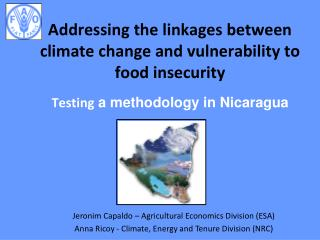 Addressing the linkages between climate change and vulnerability to food insecurity