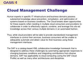 Cloud Management Challenge