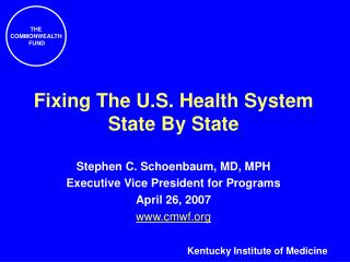Fixing The U.S. Health System State By State