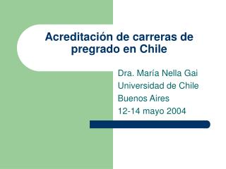 Acreditación de carreras de pregrado en Chile