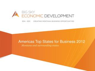 Americas Top States for Business 2012