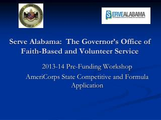 Serve Alabama:  The Governor's Office of Faith-Based and Volunteer Service