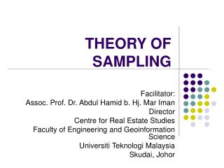 THEORY OF SAMPLING