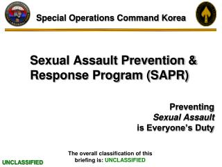 Sexual Assault Prevention & Response Program (SAPR)