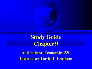 Study Guide Chapter 9