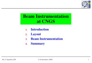 Beam Instrumentation at CNGS