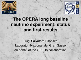 The OPERA long baseline neutrino experiment: status and first results