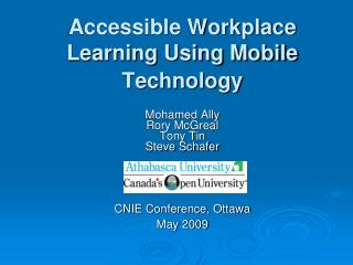 Accessible Workplace Learning Using Mobile Technology